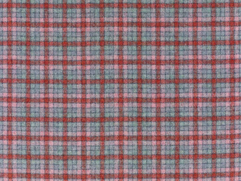 Berlin Aqua/Flamingo, British Wool Tweed Fat Quarter