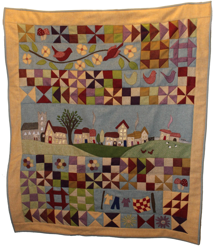 Village Green full patchwork quilt kit