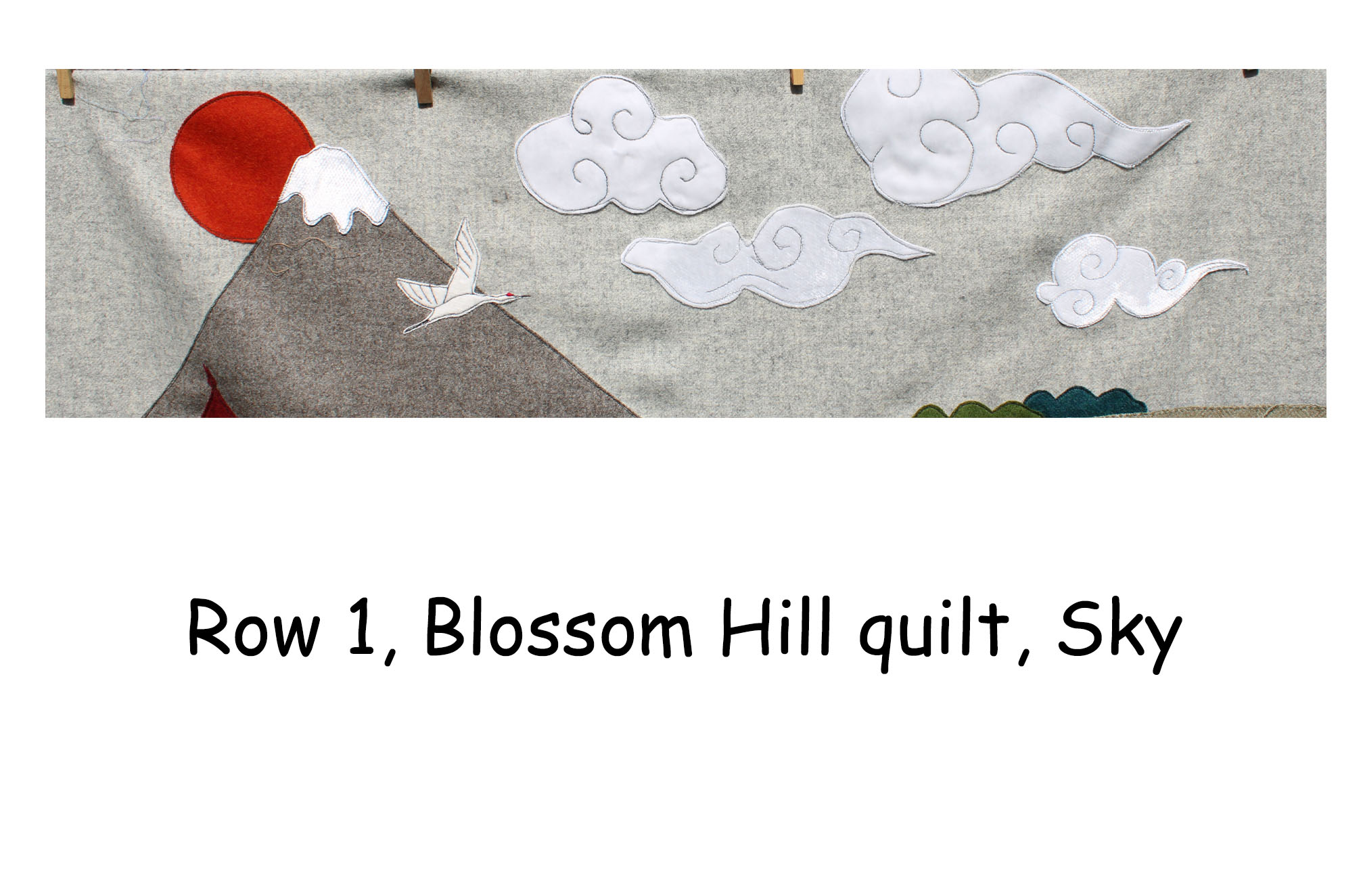 Blossom Hill, Row by Row, Japanese Themed Quilt, Block of the month Quilt.