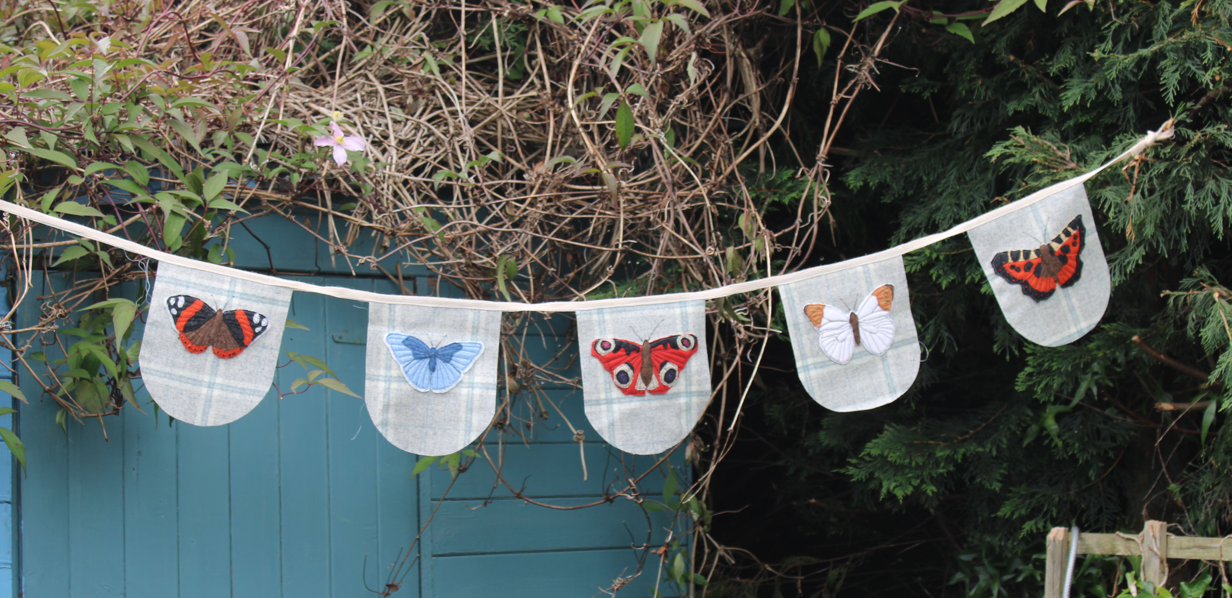 Flutterby Butterfly Bunting Applique Pack