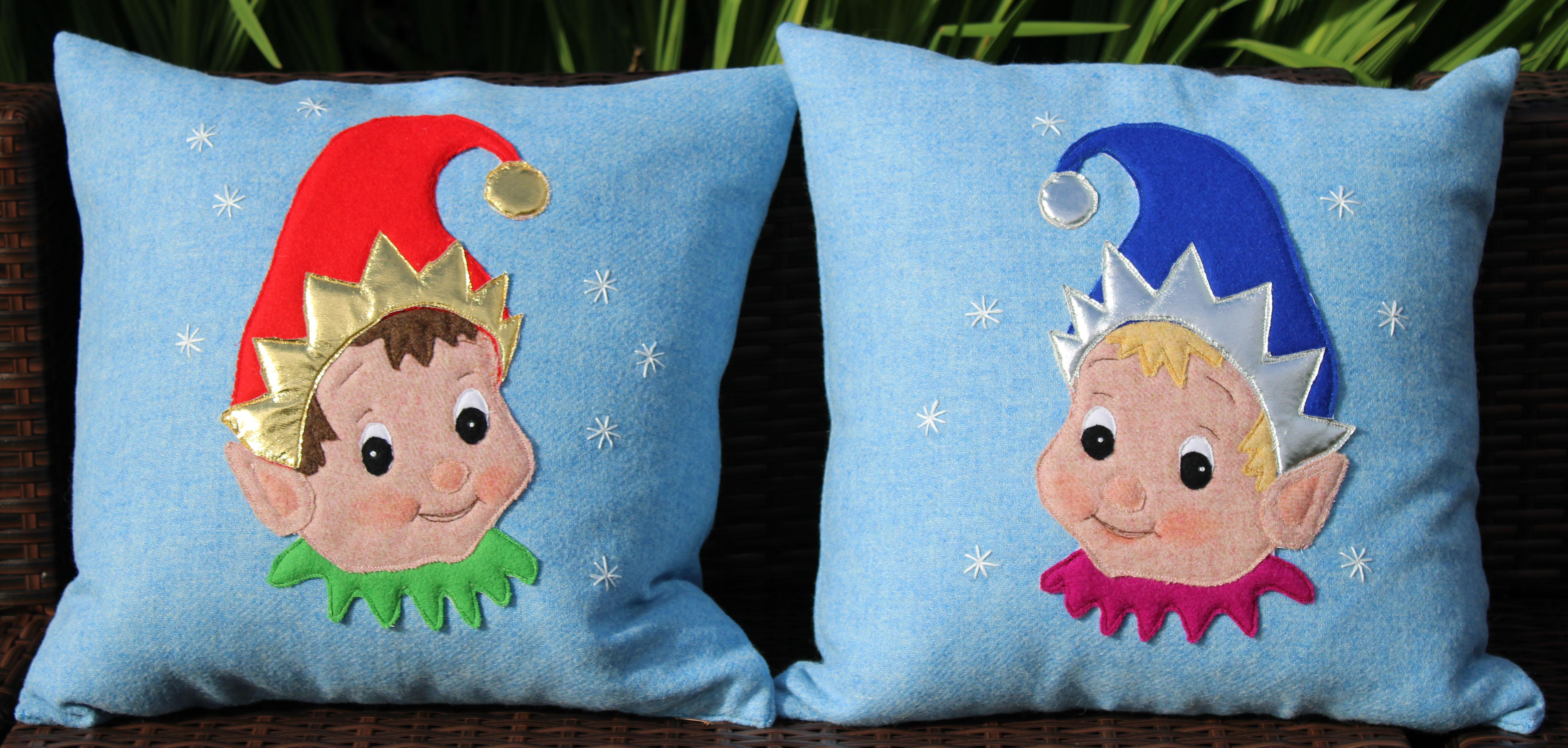 Elf Cushion Applique Pack