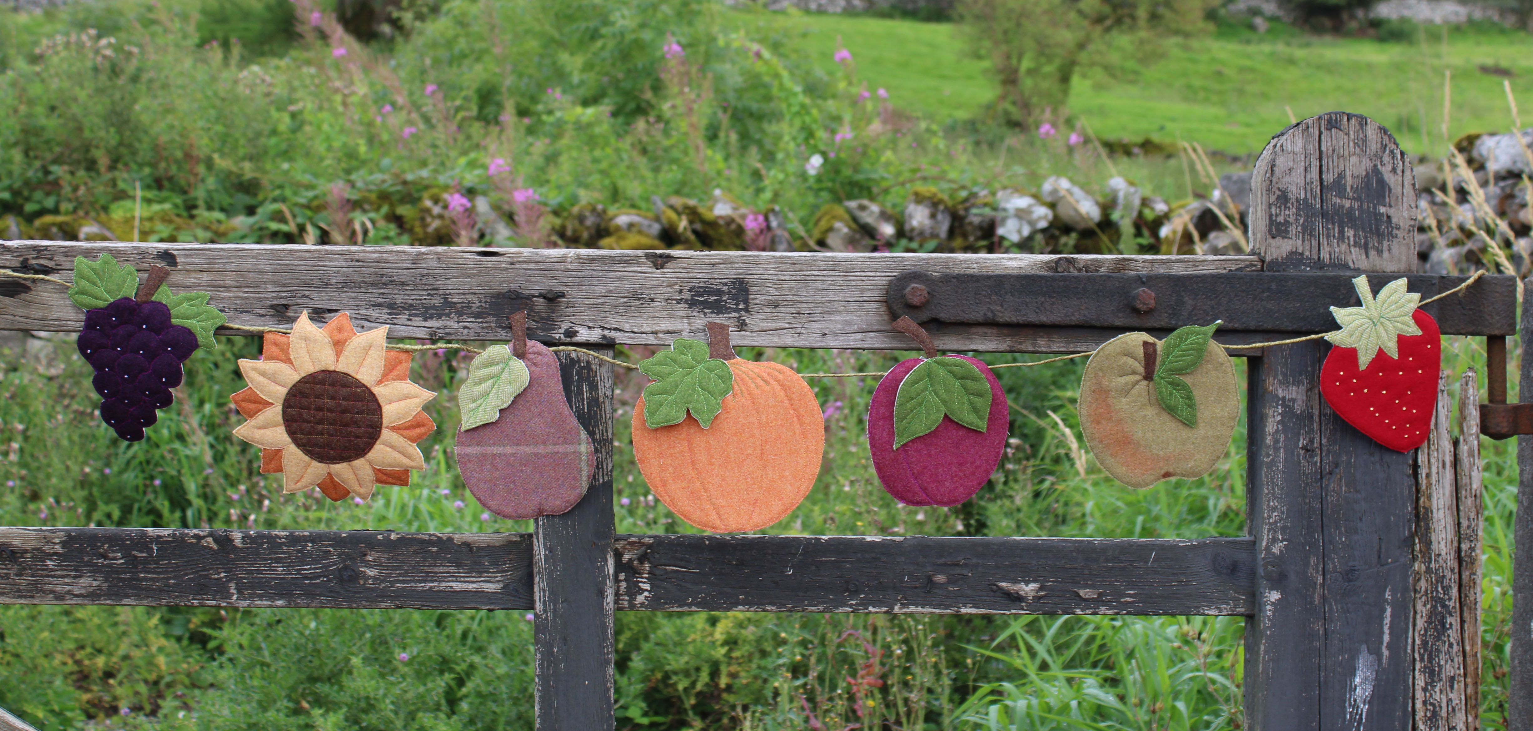 Harvest Bunting Tweed Pack, patchwork kit