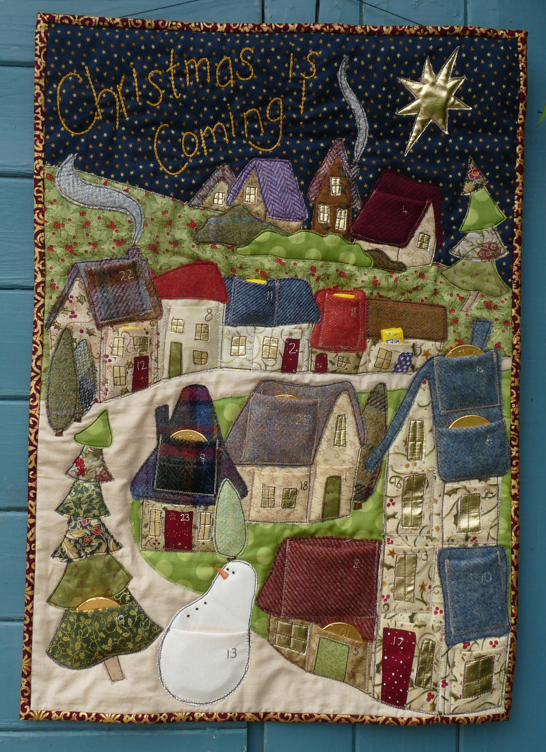Christmas is Coming Advent Calendar Sewing Pattern