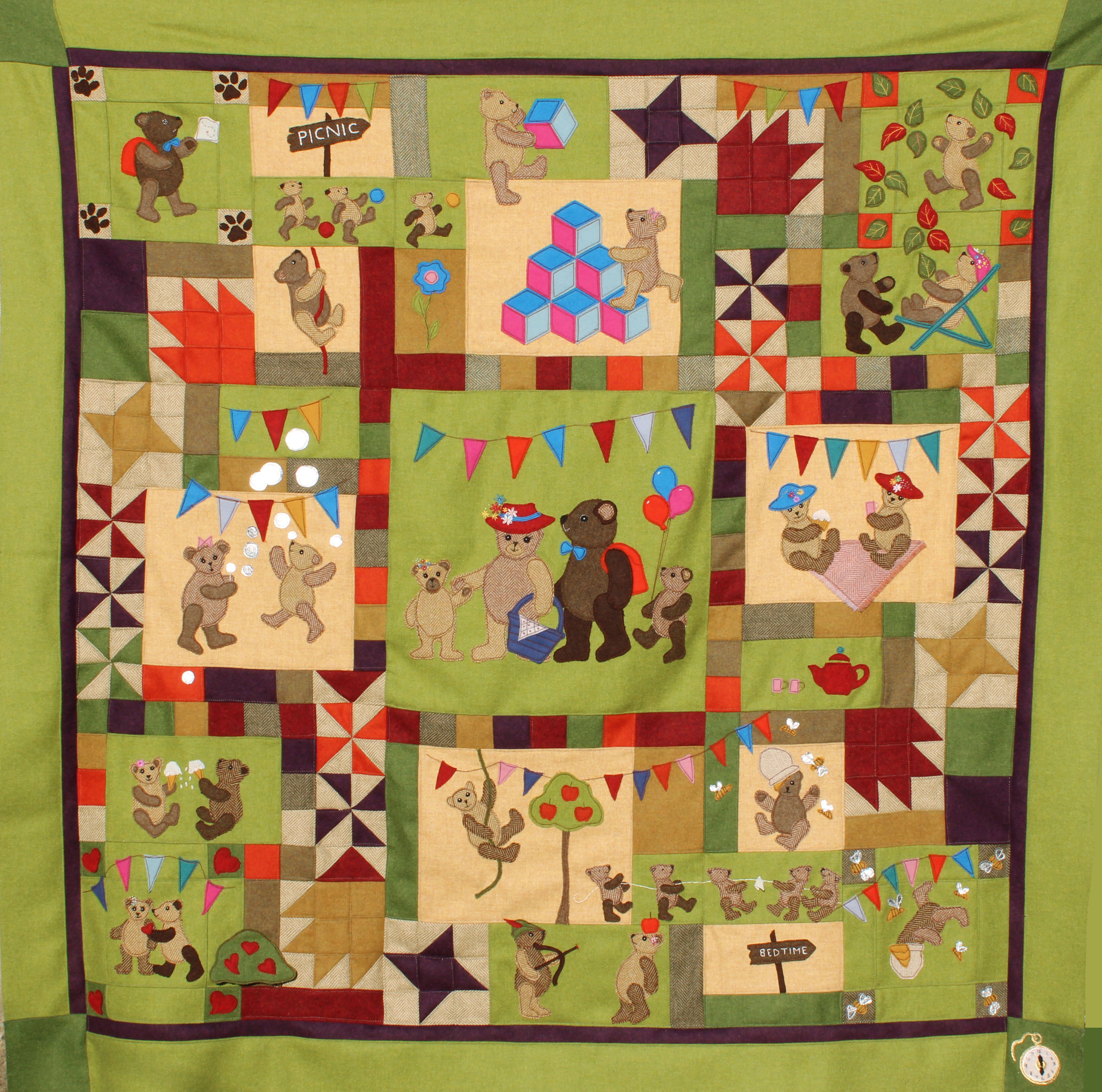 Teddy Bears Picnic Quilt Pattern Book