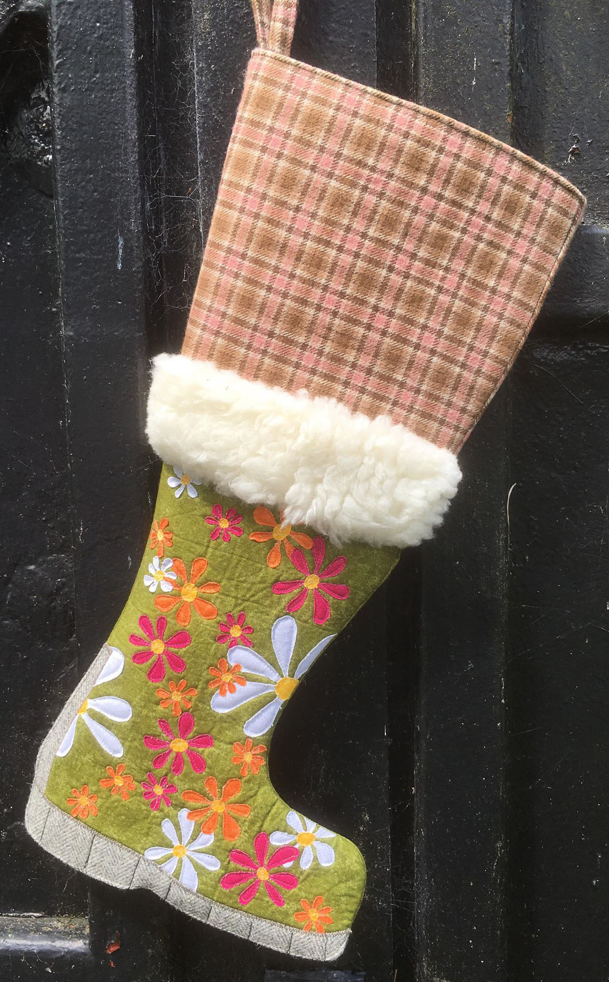 Winter Wellie Wonderland, Christmas Stocking Sewing Pattern