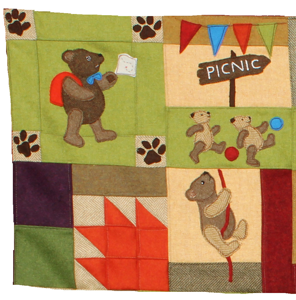 Teddy Bears Picnic Block of the Month Quilt