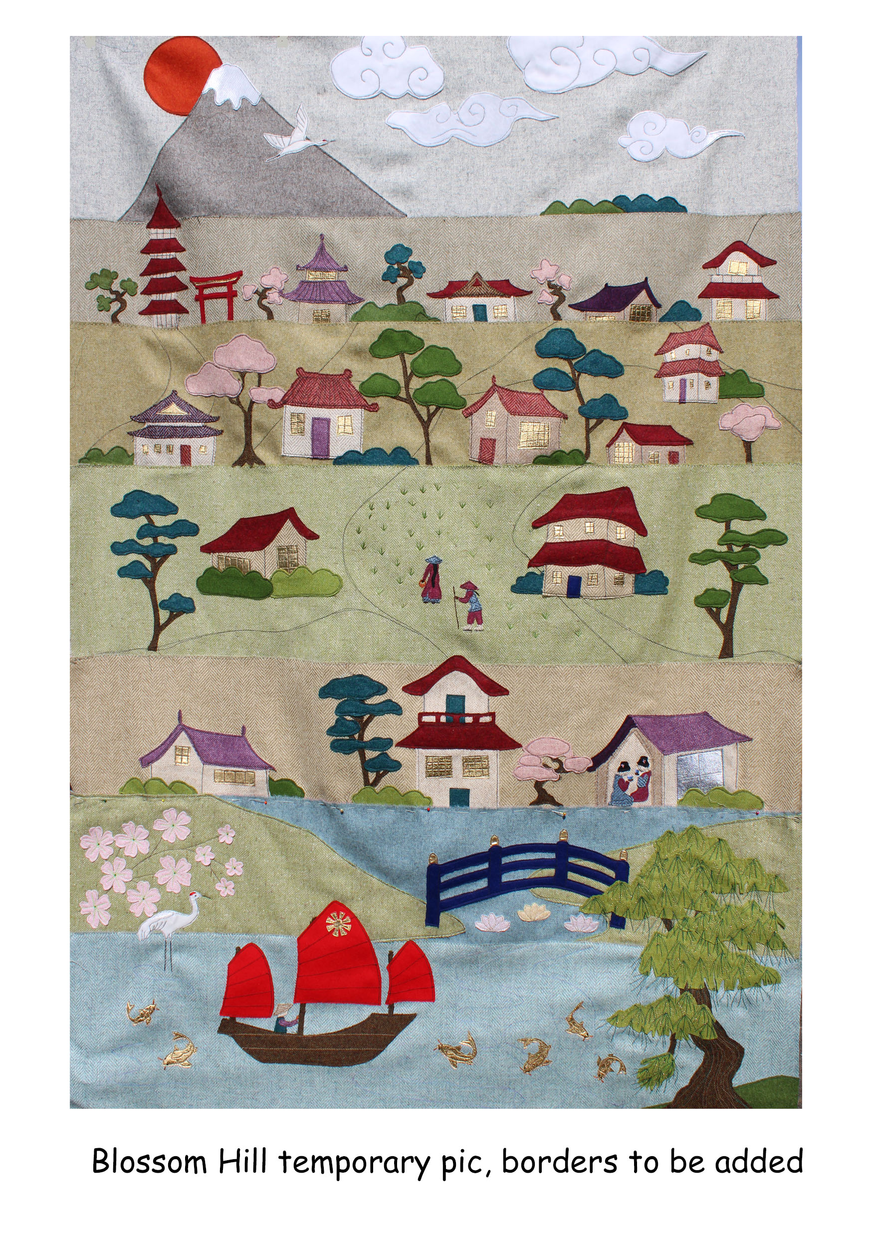 Blossom Hill, Row by Row, Japanese Themed Quilt, Full Kit