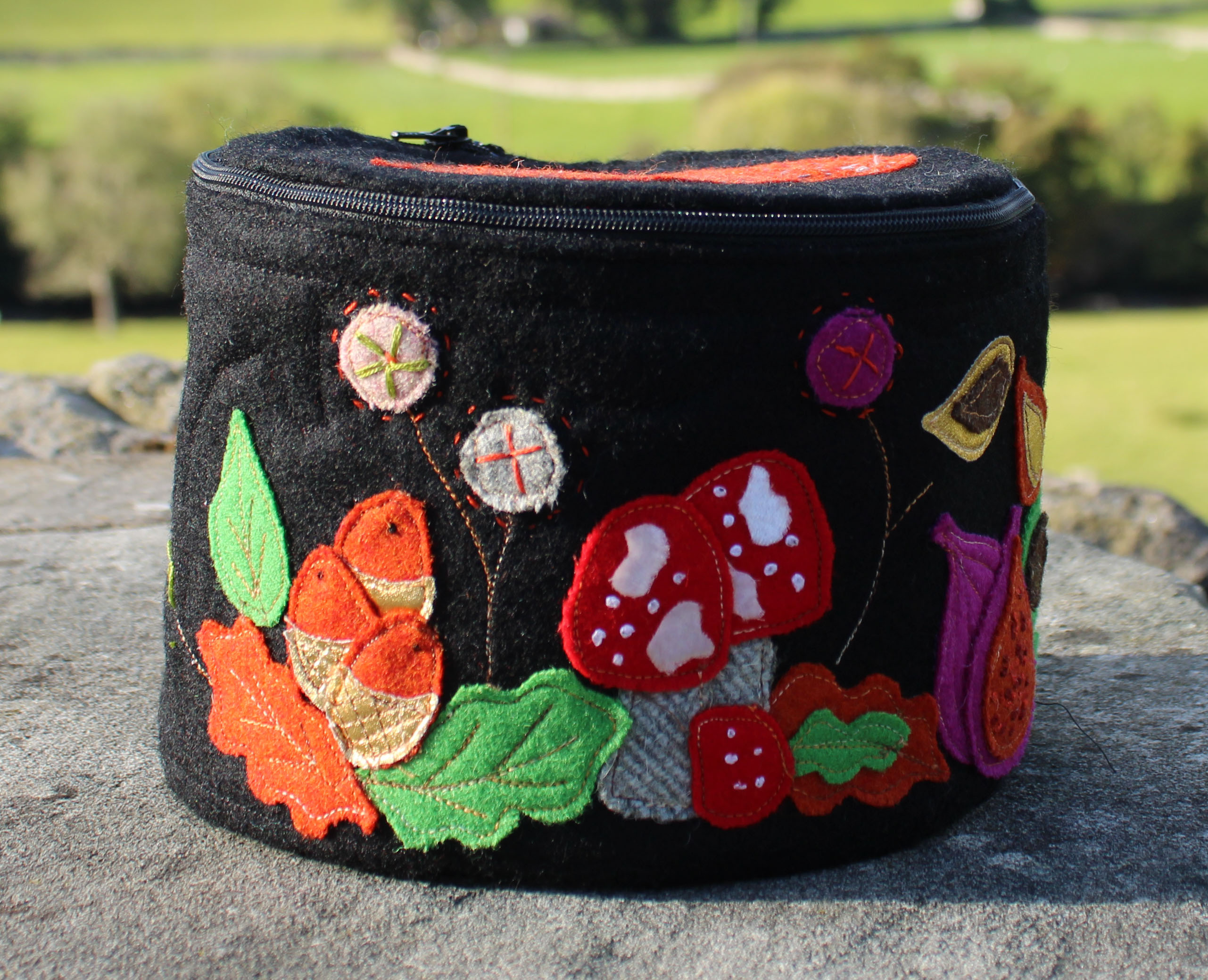 Getting Around, Circular Sewing Case, Applique Pack