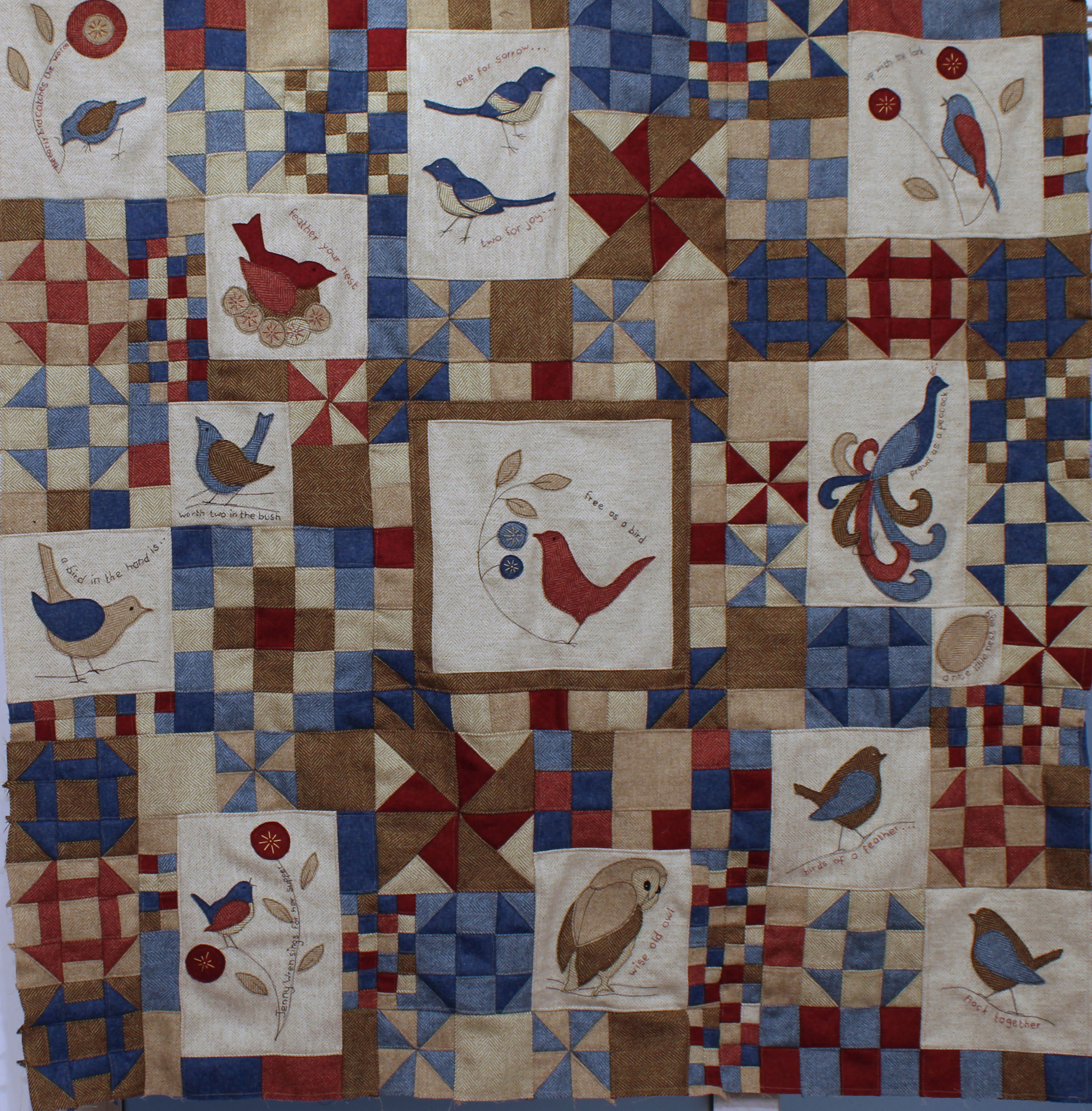 Birds of a Feather full patchwork quilt kit