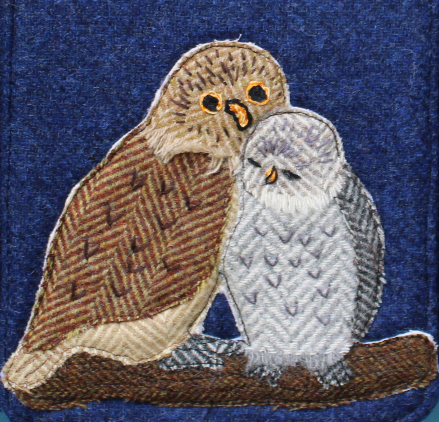 Little Owl Tweed Applique pack with sewing pattern for Hazels Bag