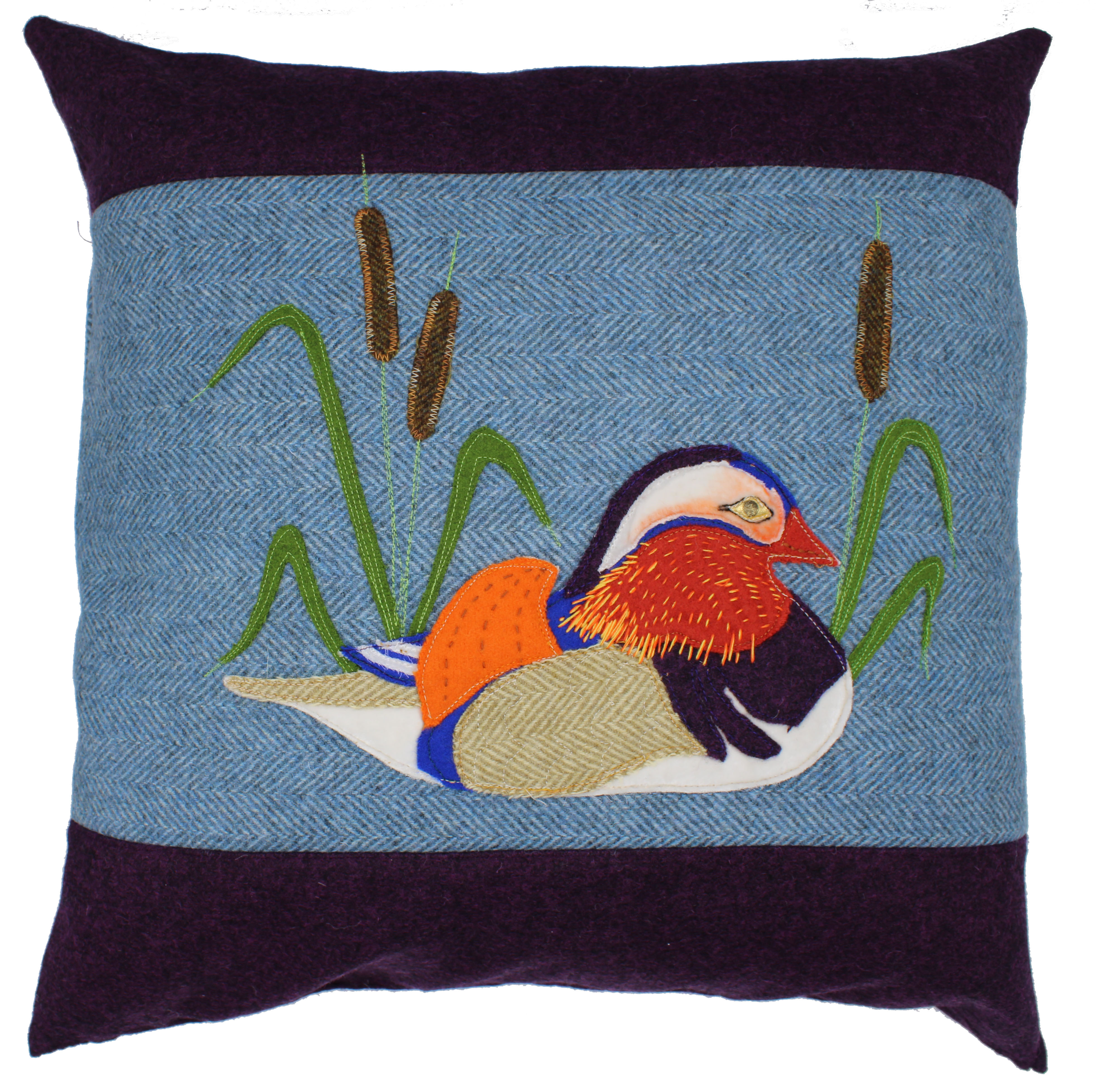 Mandarin Duck Cushion Sewing Pattern and Applique Pack