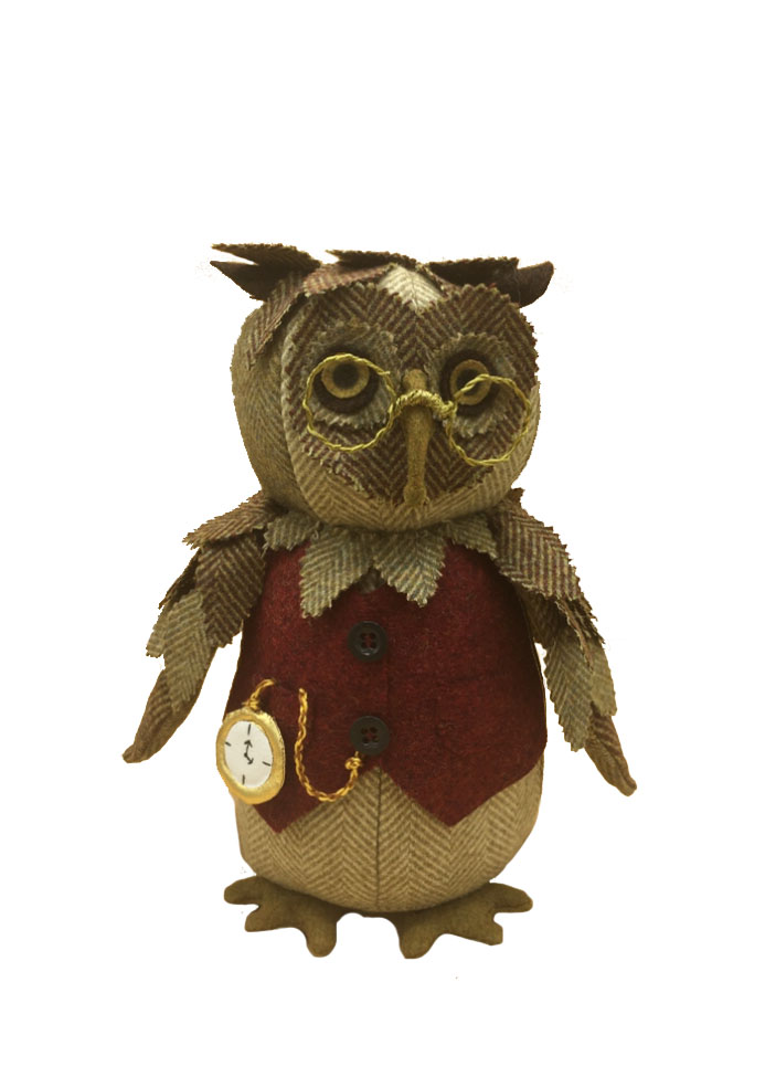 Wise Old Owl Character Doll Sewing Pattern