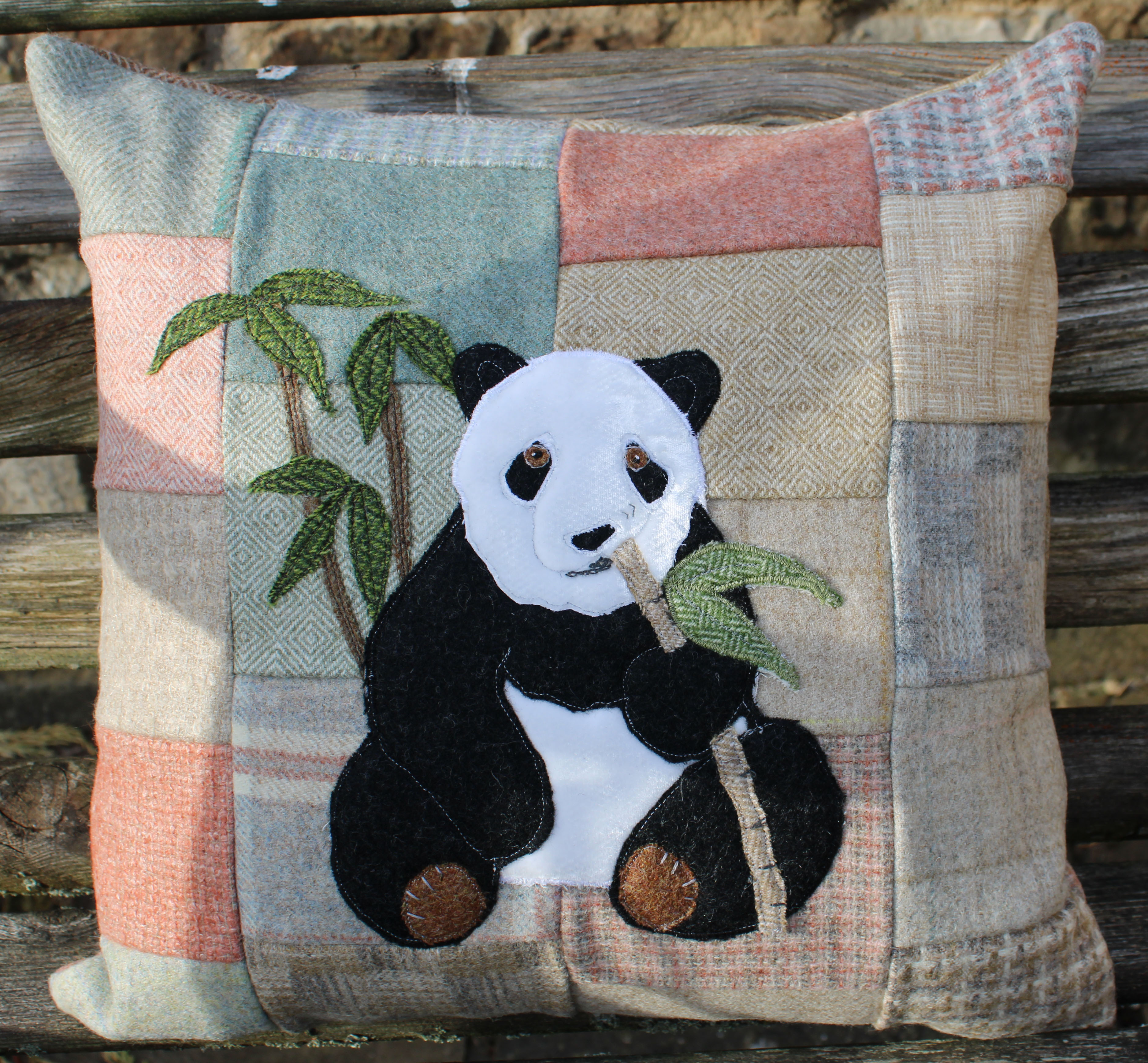 Meal for One Panda cushion