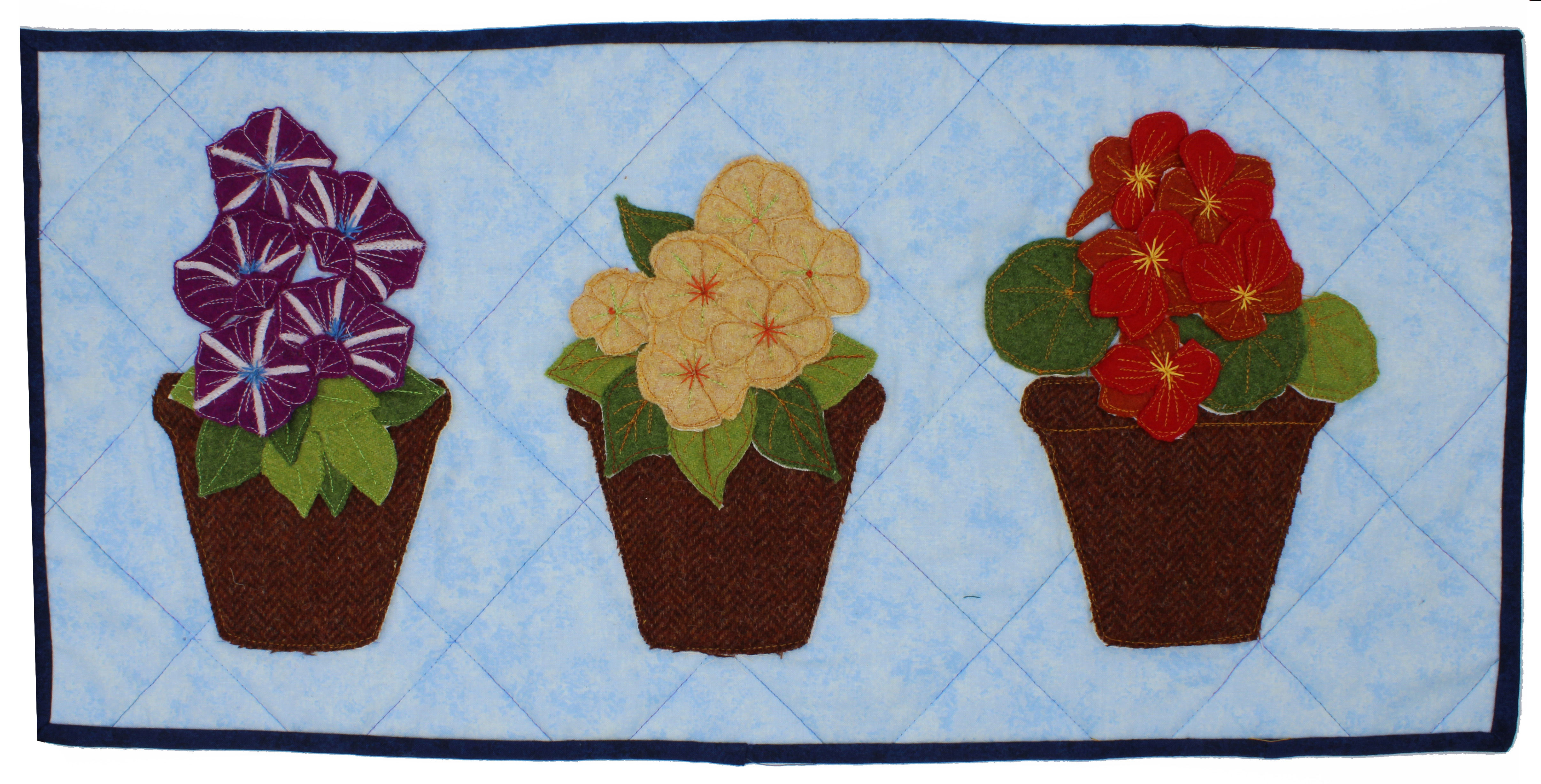 Pots of Love, Wall Hanging Sewing Pattern
