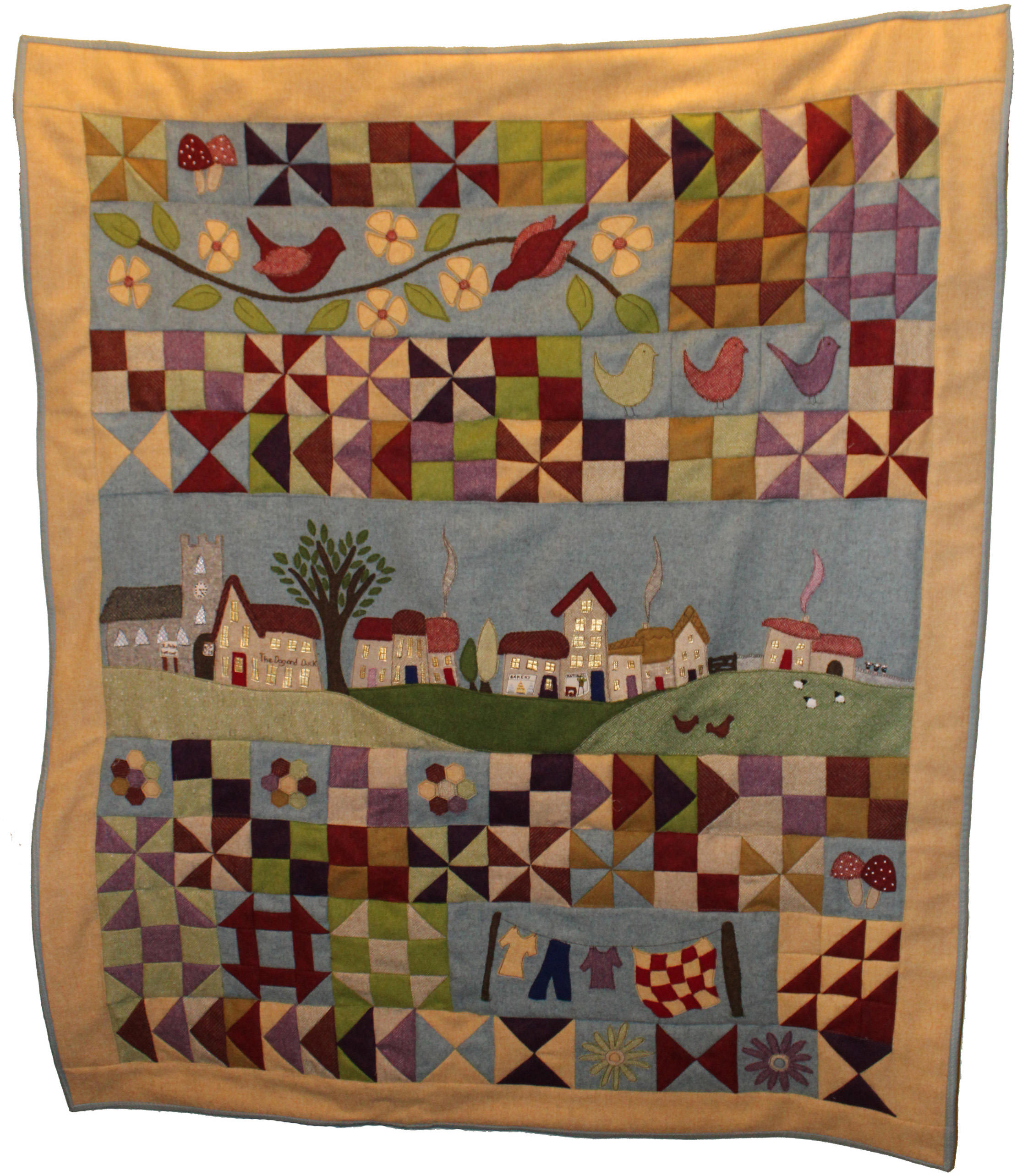 Village Green full patchwork quilt kit
