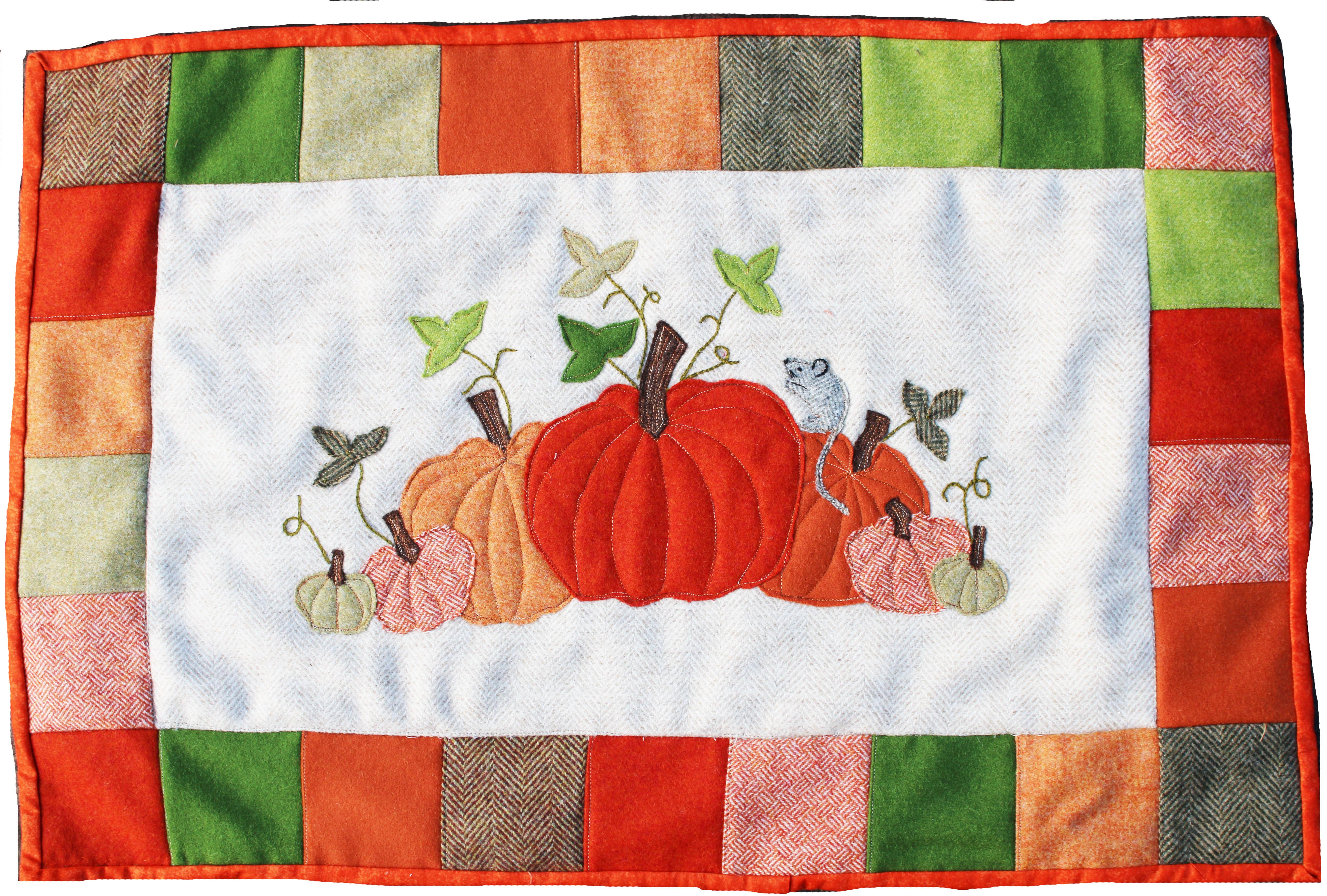 Squash, Pumpkin Wall Hanging Applique Pack